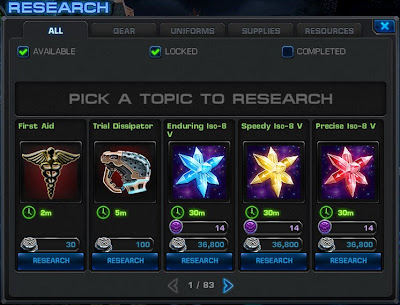 Research tab