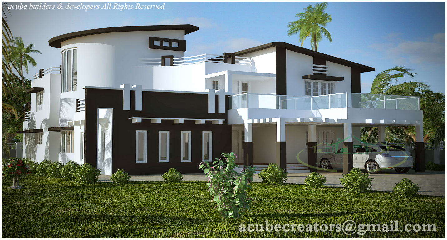 Modern contemporary villa 5004 sq ft plan 131 for Plan villa moderne
