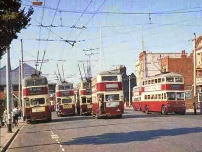 Trolley Buses at The Hard