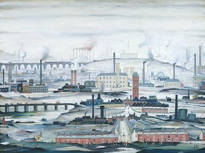 L.S.Lowry - Industrial landscape,1955