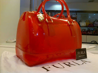 tas furla candy merah