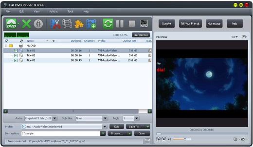 تحميل برنامج Full DVD Ripper 9.0.10 لتقسيم ودمج مقاطع الفيديو مجانا