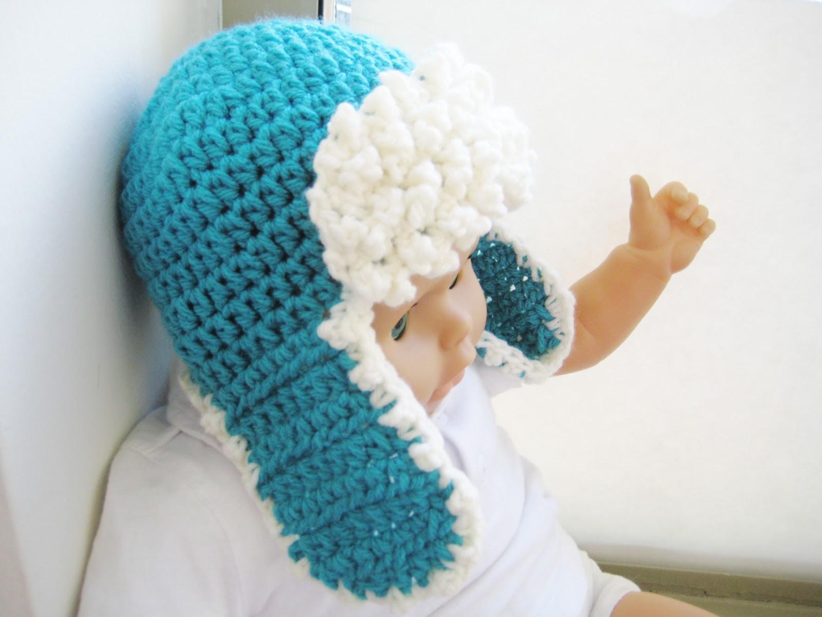 Crochet Newborn Aviator Hat Pattern : Crochet Dreamz: Aviator Hat Crochet Pattern, Newborn Baby ...