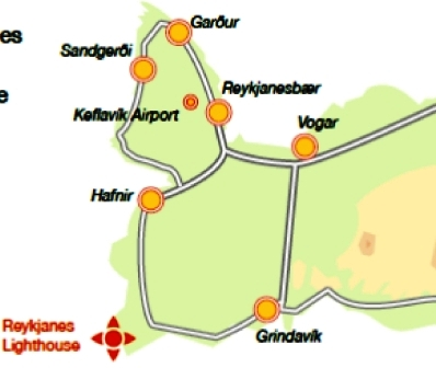 Mapa del faro de Reykjanes