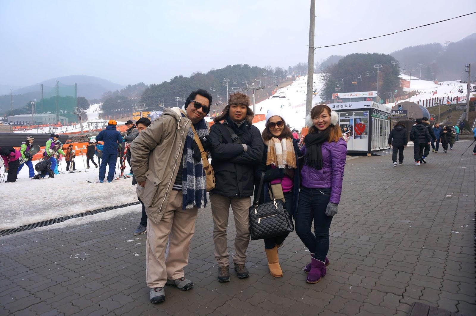walk with cham: bearstown ski resort south korea