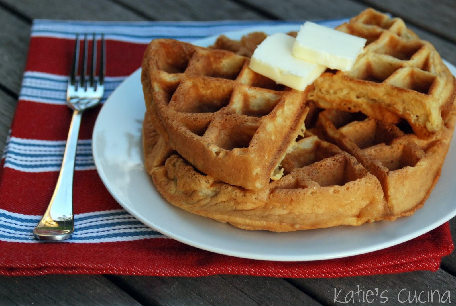 Buttermilk Waffles - Katie's Cucina