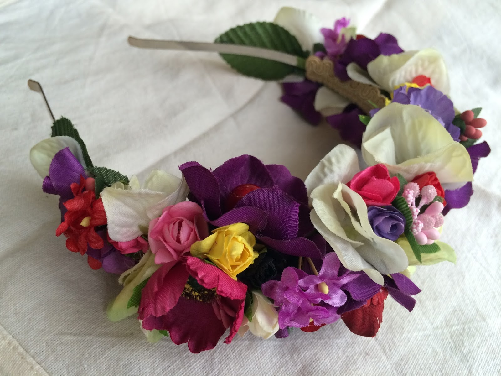 pvp diadema de flores rosa 45 envo certificado incluido - Como Hacer Diademas De Flores