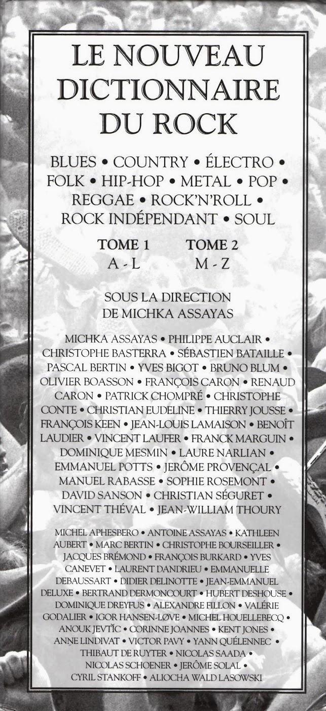 Nouveau dictionnaire du rock, dictionnaire du rock assayas, nouveau dictionnaire du rock assayas, nouveau dictionnaire du rock robert laffont, michka assayas exhibition
