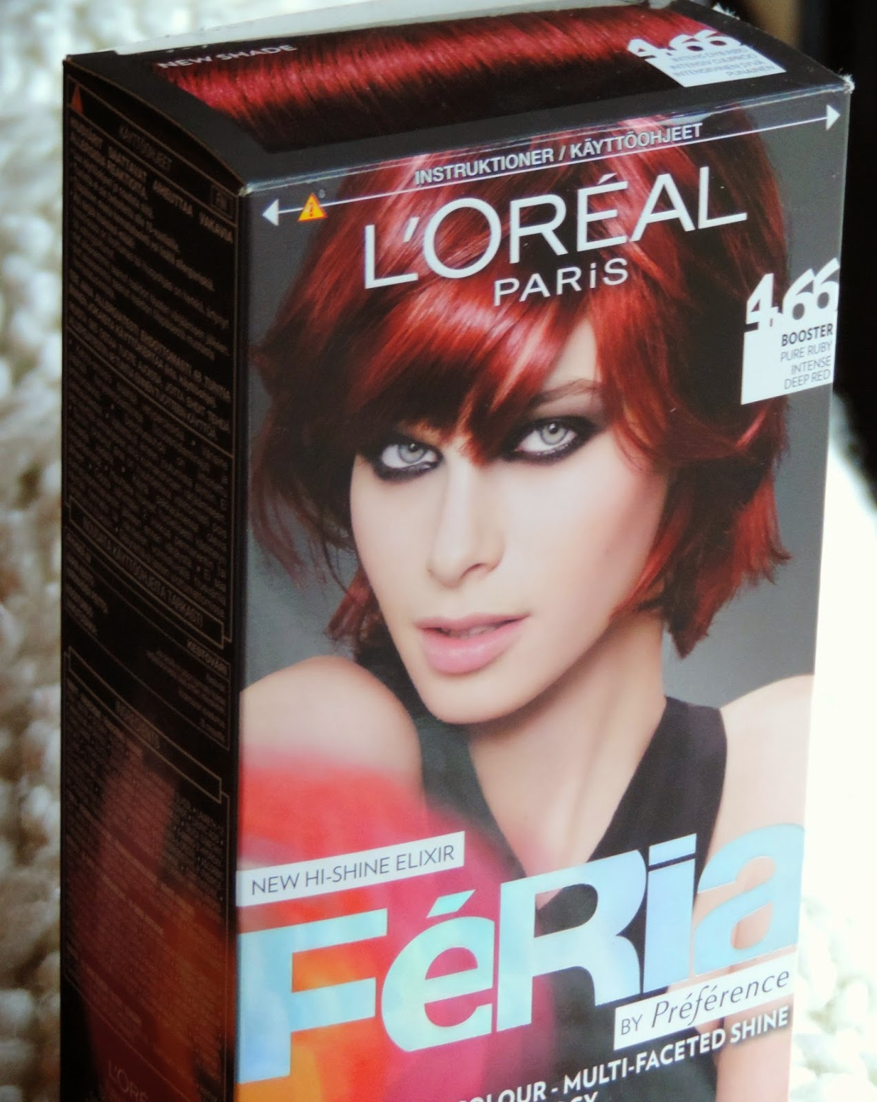 punainen hiusväri ruskean päälle