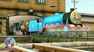 Gordon the tank engine Thomas and friends Ferdinand the train giggled with joy at Sodor steamworks