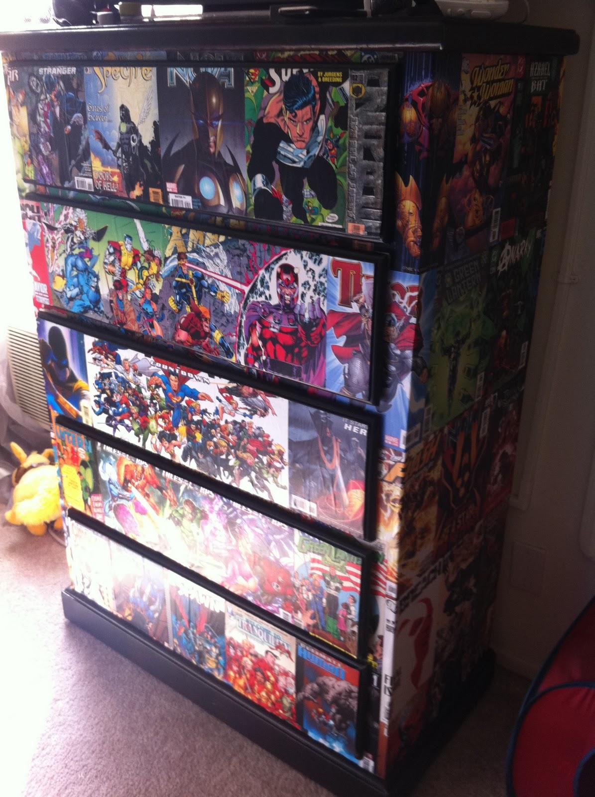 Adam sketches work in progress pics of decoupage dresser - Marvel comic bedroom ideas ...