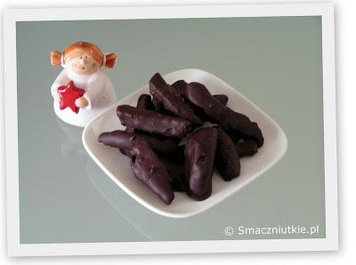 Suszone brzoskwinie w czekoladzie