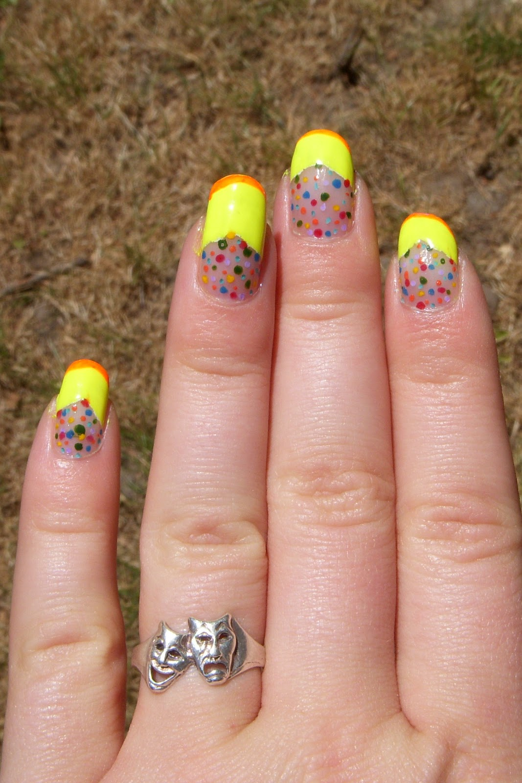 Quixii\'s Nails: 06/26/12 - Bright and Colourful Nails