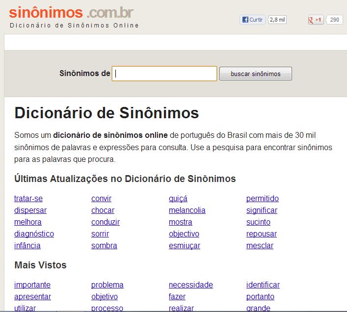 : Dicionário de Sinônimos - photo#13