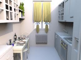 10 fotos de cocinas peque as colores en casa for Cocinas largas y estrechas
