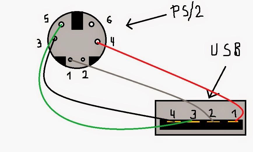 Схема распайки usb мышки