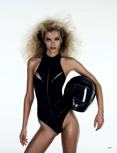 Frida Aasen in black swimsuit by Aitken Jolly