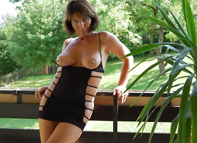 amazing mature posing outdoor