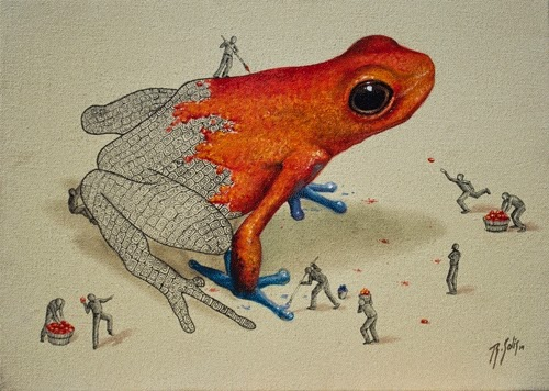 03-Poisonous-Colour-Ricardo-Solis-Animal-Paintings-and-their-Back-Story-www-designstack-co