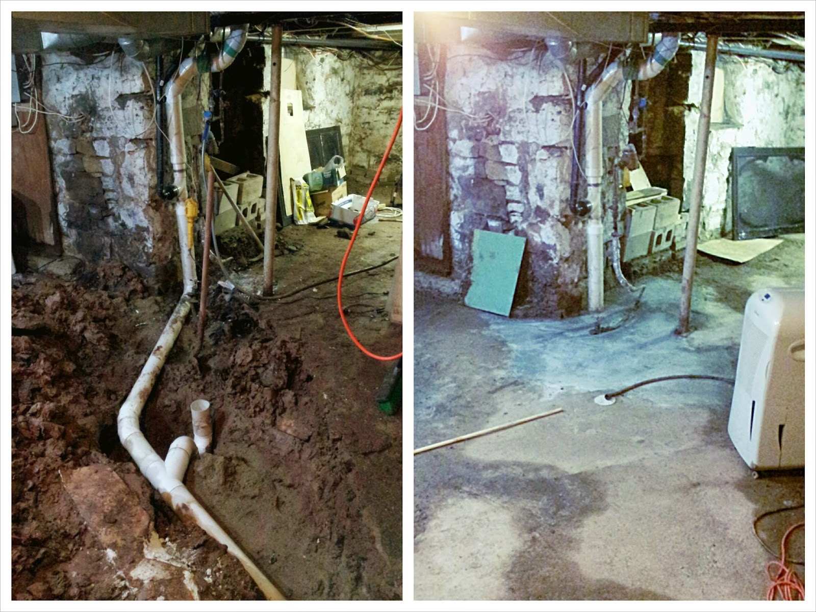 john did some primo work here and the basement is drying up nicely