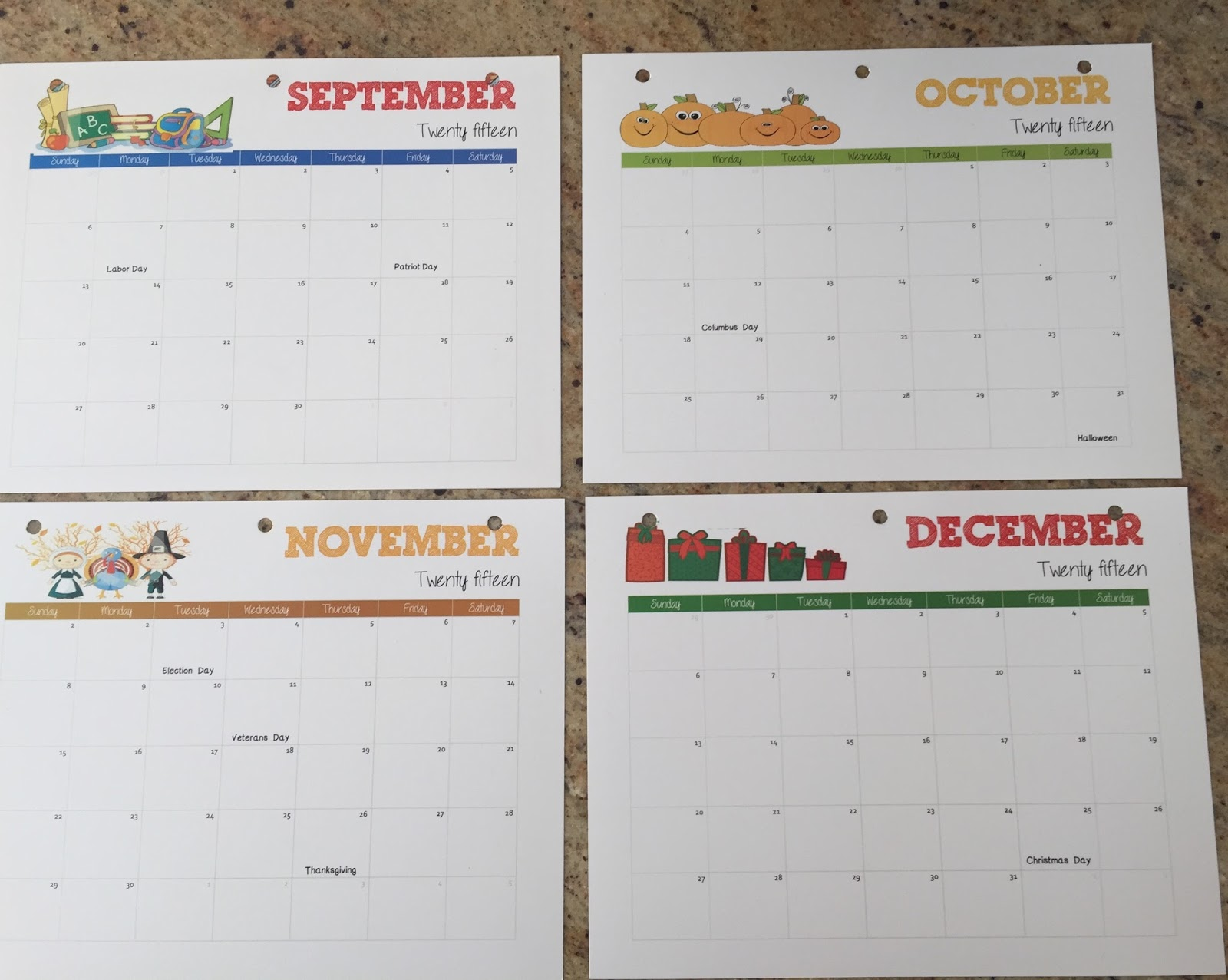 End Of Year Calendar : Terrific preschool years end of the year calendar