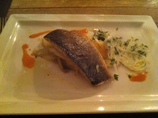 Sea bass fillet with braised fennel
