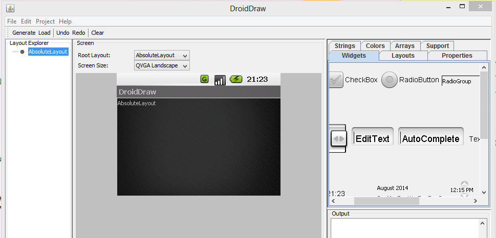 wysiwyg user interface ui designereditorbuilder for cell phone and tablet application programming on the android platform this tool was written to - Android Ui Maker