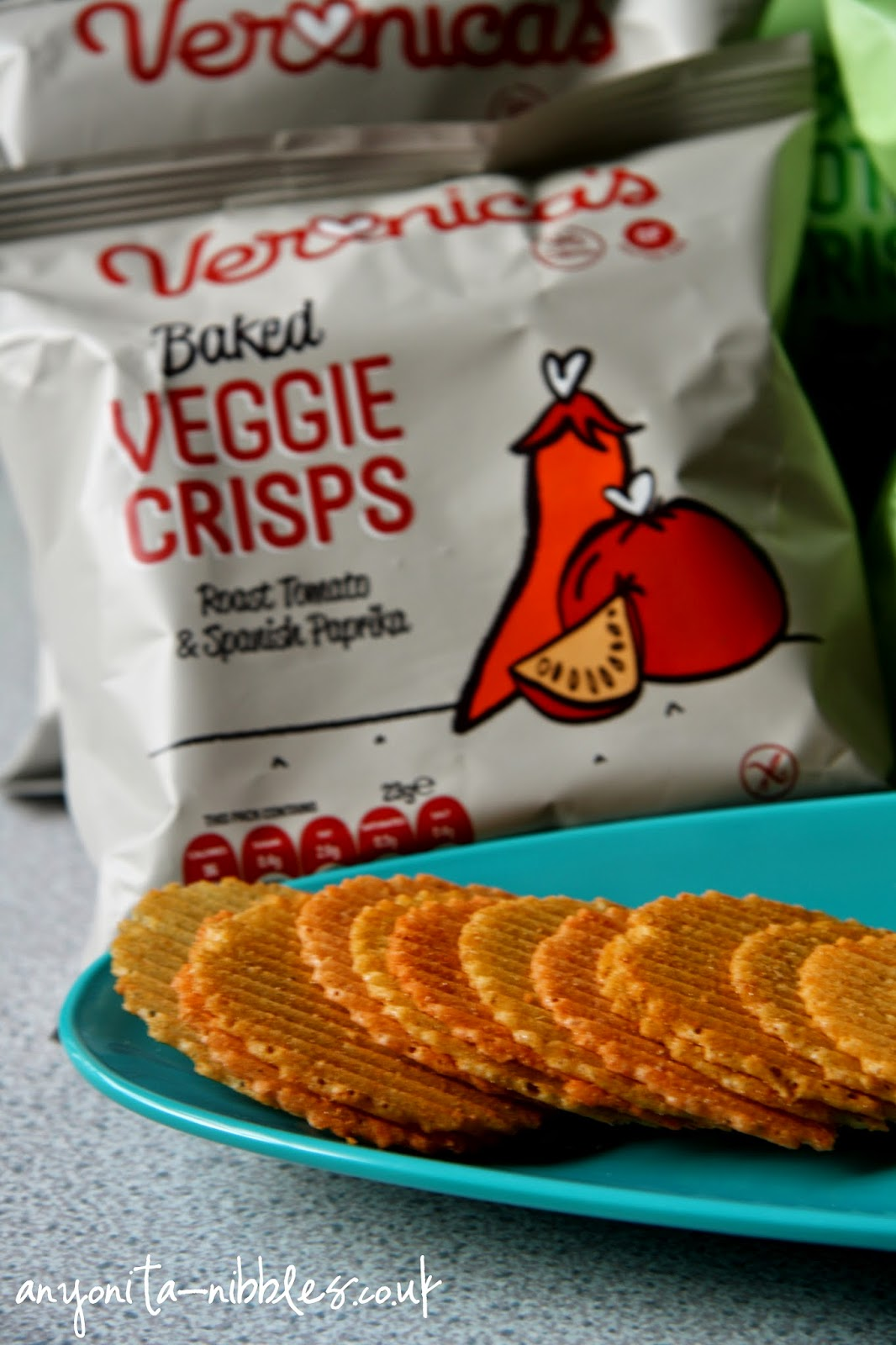 One of the veggie crisp range of Veronica's from Anyonita-nibbles.co.uk