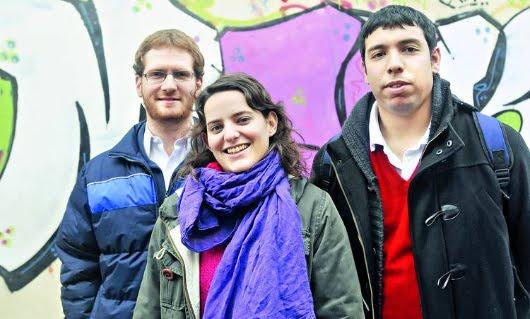 Ignacio Koster, Lucía Converti y Juan Manuel Oro (Foto: Fernando de la Orden/Clarín)