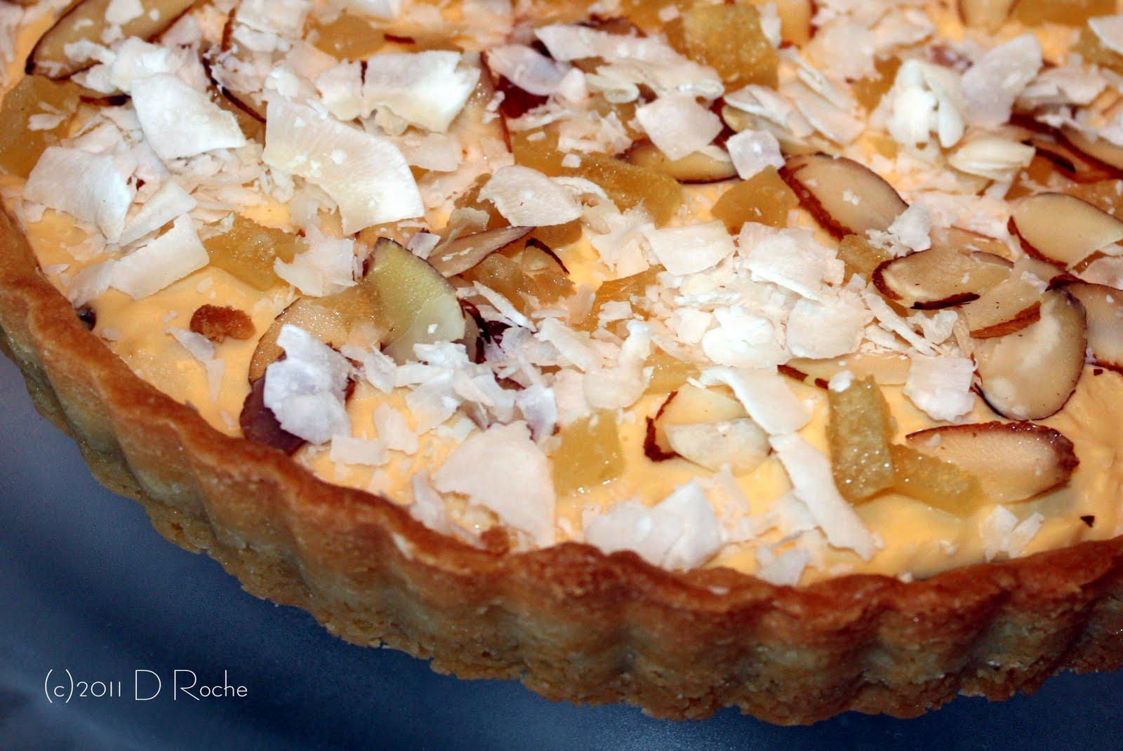 ... with Nick ...: Banana Coconut Custard Tart --- not just another tart