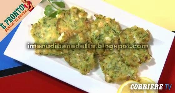 Frittelle di Zucchine e Feta di Benedetta Parodi