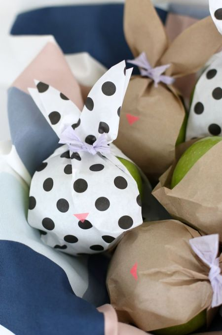 lovely Easter bunny fruit bags wrapping