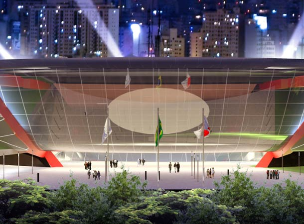Rendering of new arena planned for the same site