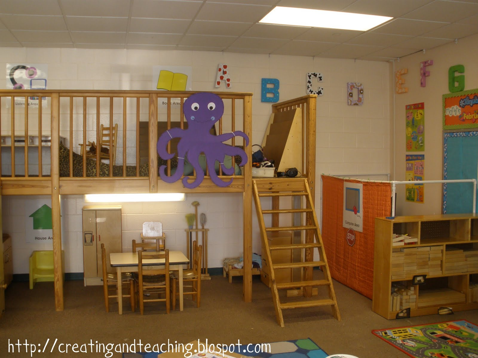 Classroom Loft Ideas ~ My classroom theme on pinterest reading loft
