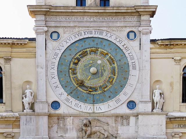 Replica of the astronomical clock made by Jacopo Dondi dell'Orologio, Torre dell'Orologio, Piazza dei Signori, Padua