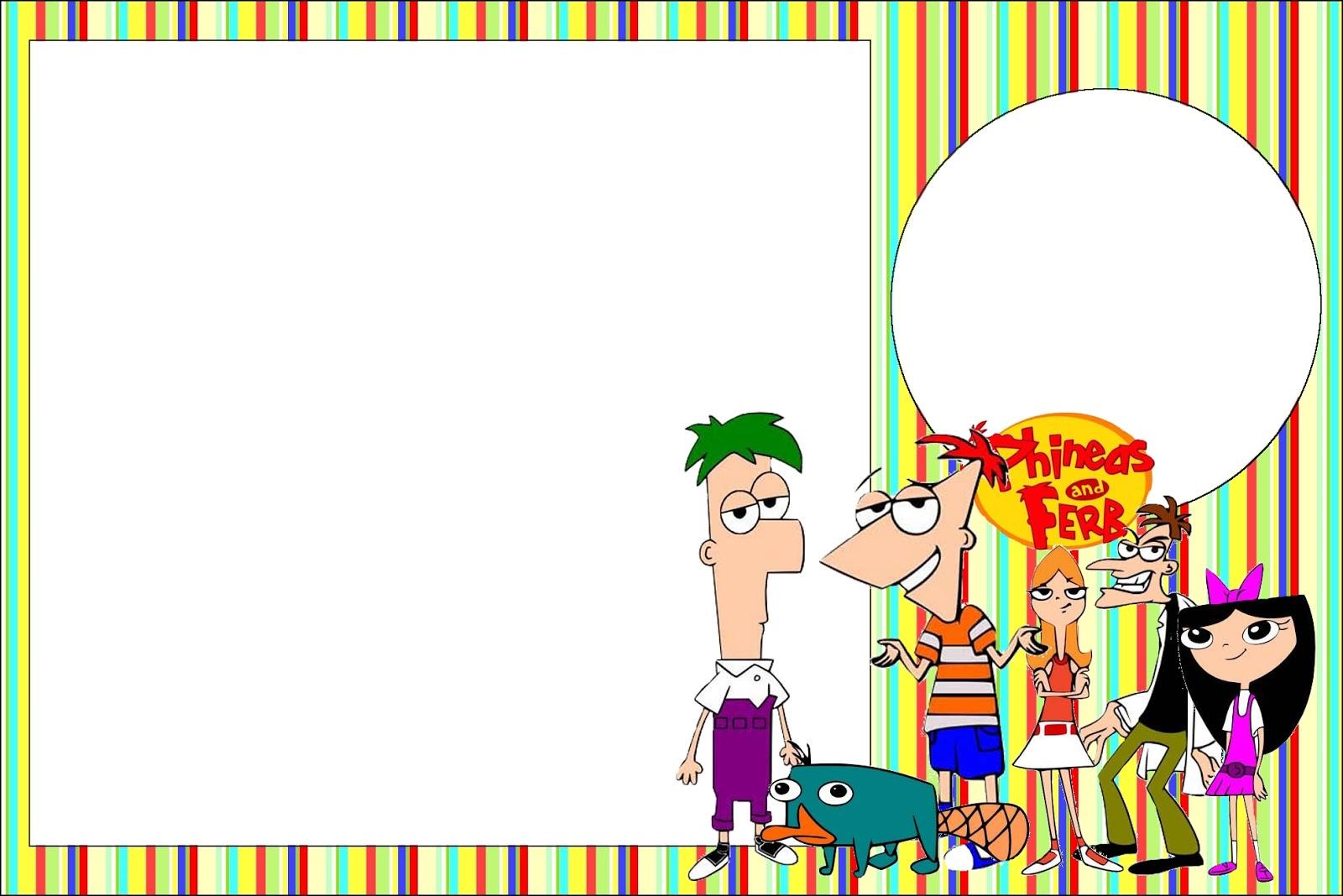 Phineas Y Ferb  Invitaciones Para Imprimir Gratis