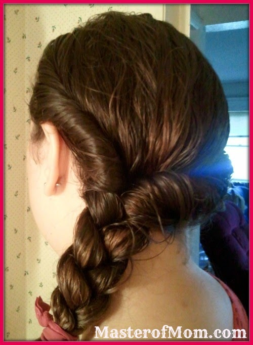 Double Braid Hairstyle with Goody Ribbon Ouchless Hair Ties