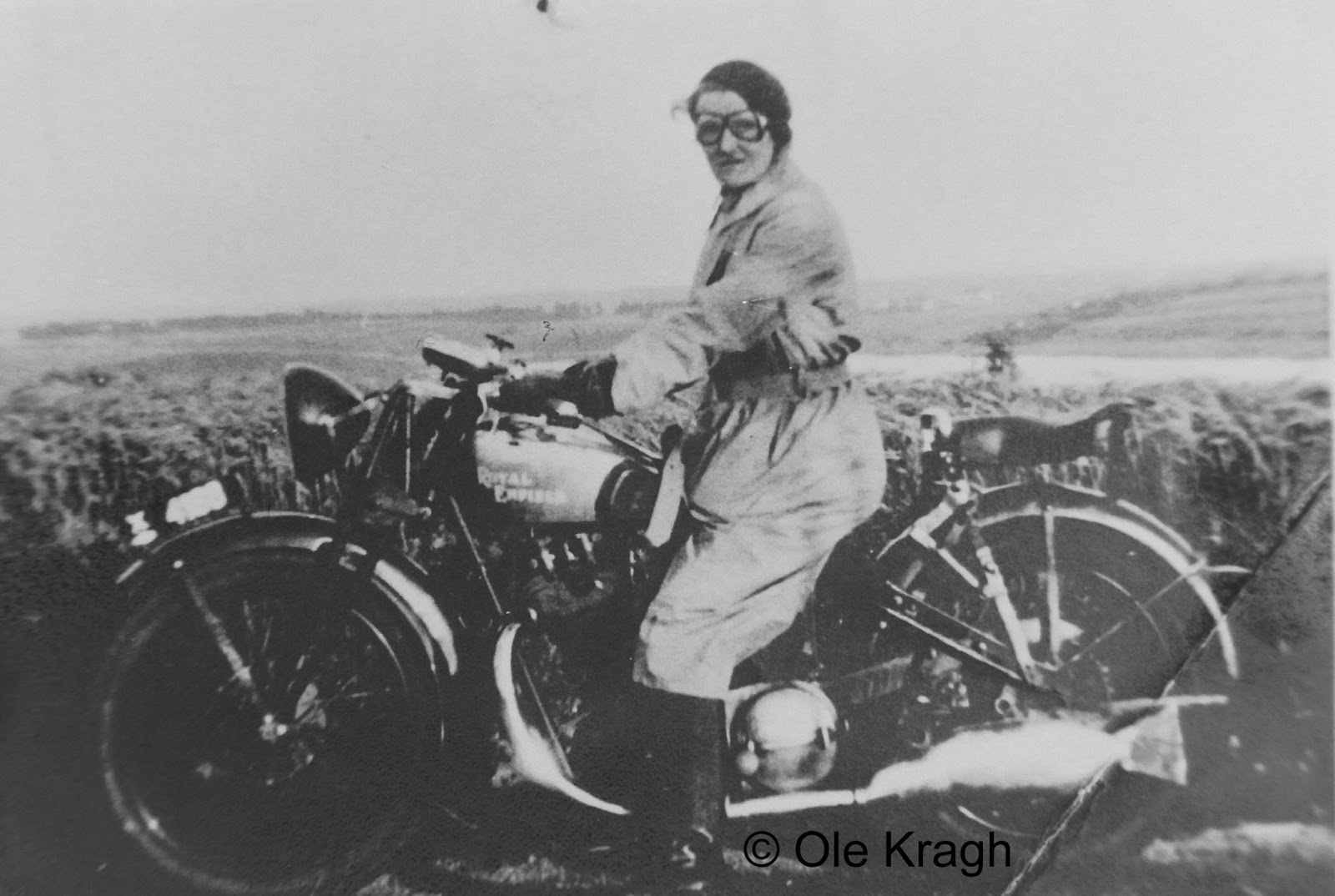 RoyalEnfields.com: Woman on Royal Enfield in old photo ...