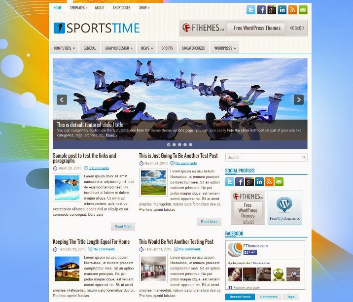 SportsTime Free WordPress Theme