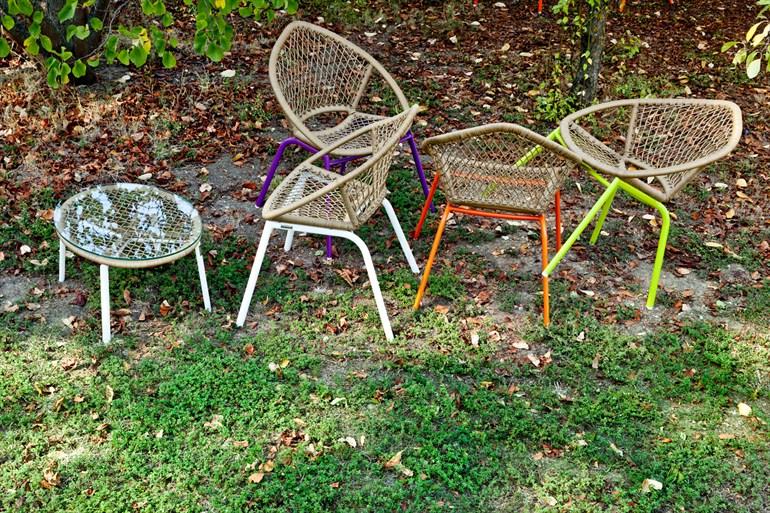 Sedie da giardino in vimini metallo plus deco - Sedie in vimini ikea ...