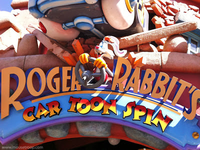 Roger Rabbit Disneyland Toontown Car Toon Spin Rabbit's dark