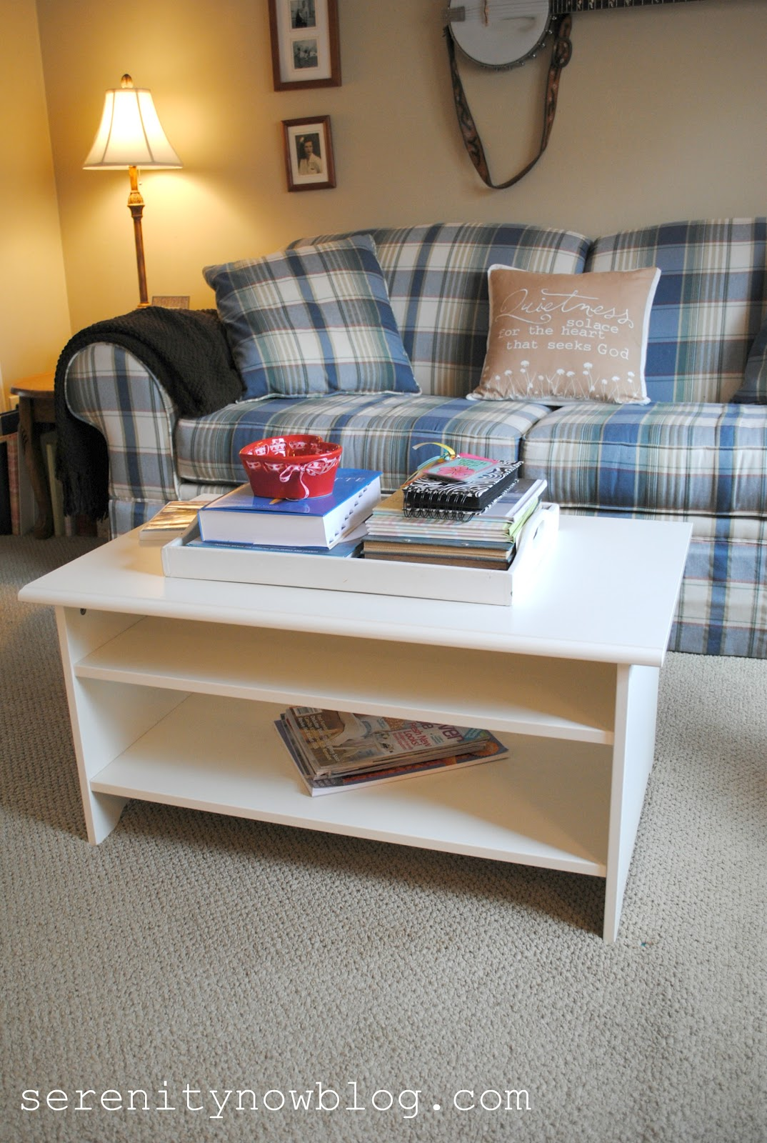 Serenity Now New Coffee Table Family Room Update