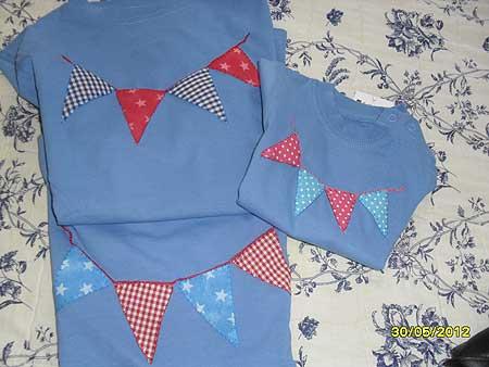 camiseta para niños con apliqué
