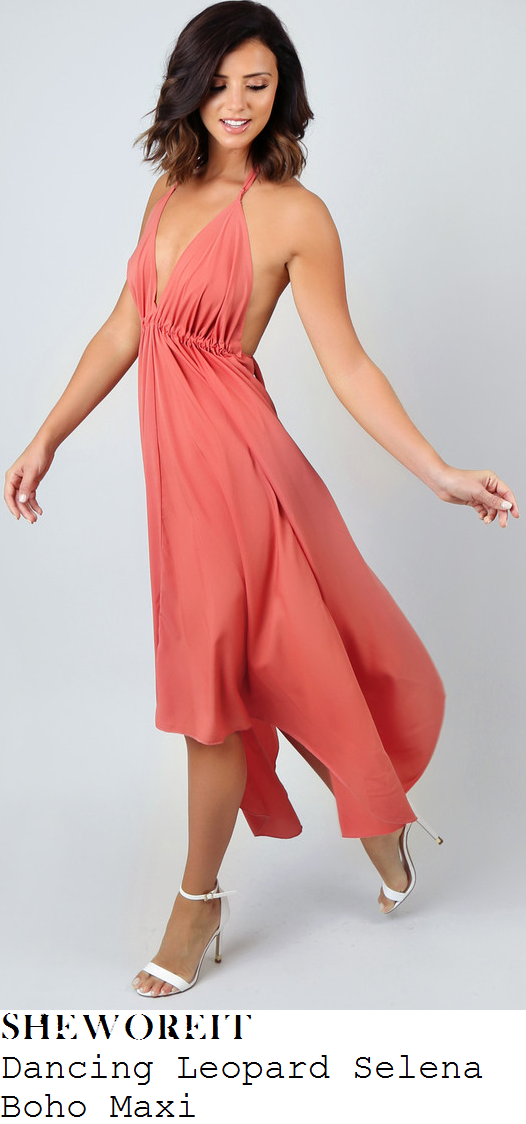 lucy-mecklenburgh-pink-drape-halter-asymmetric-maxi-dress