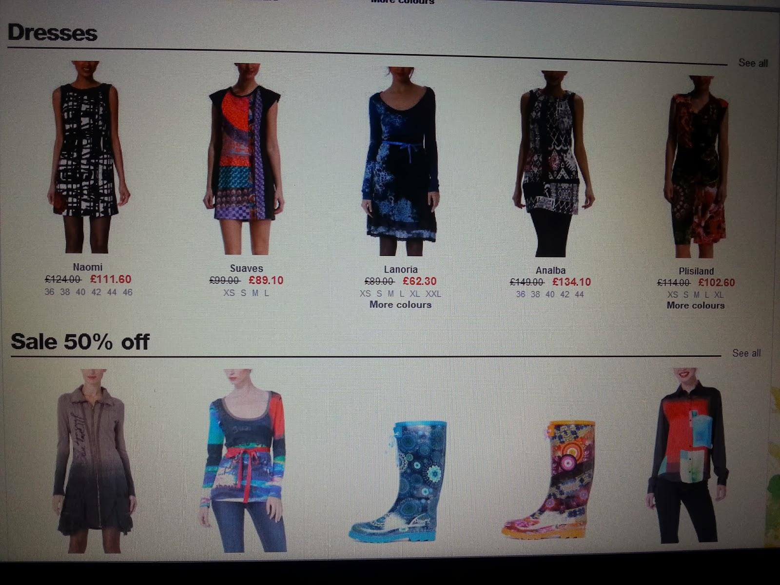 dari sudut pandang, koleksi pakaian Desigual