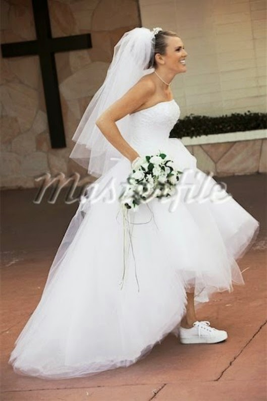 style sneakers on a wedding dress With wedding dress with sneakers