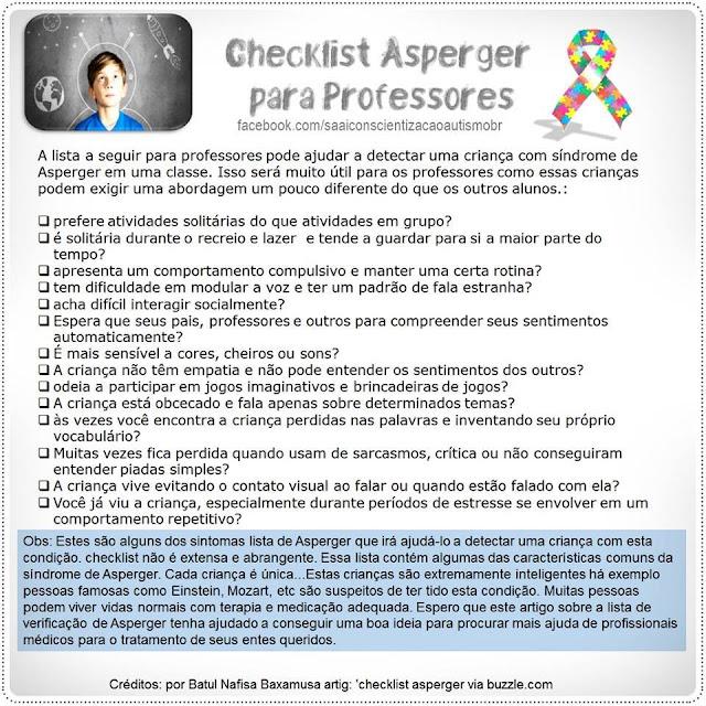 Dicas para detectar uma criança autista/asperger em sala de aula