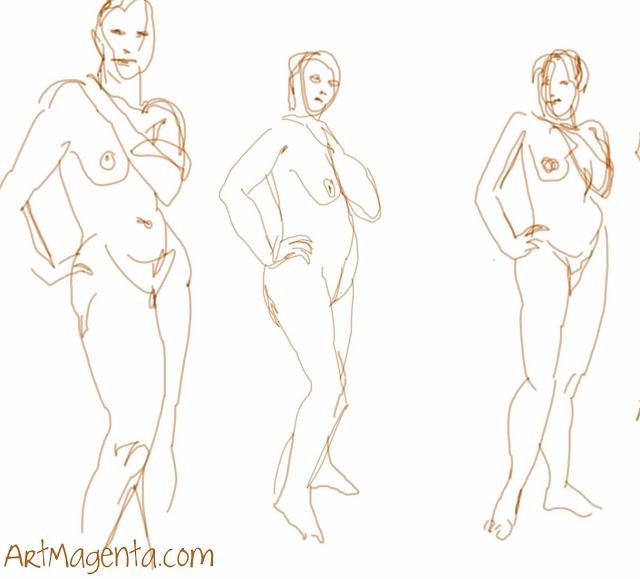 Figure drawing from ArtMagenta.com