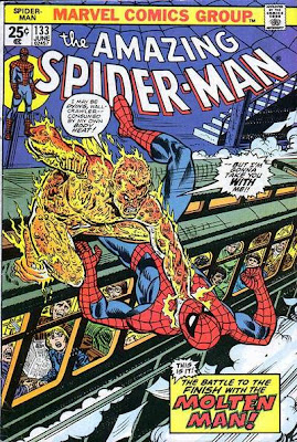 Amazing Spider-Man #133, the Molten Man returns