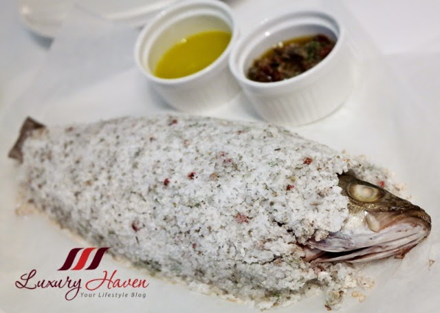 etna italian restaurant fresh seabass salt crust review